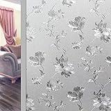 LMKJ Película de Ventana de Mantenimiento Fresco estática de peonía, para Proteger la privacidad sin Pegamento Pegatinas de Vidrio Decorativas, película de Vidrio para el hogar A42 40x200cm