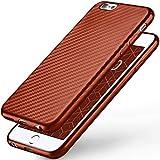 Moex Pulse Back Cover - Funda para iPhone 6S Plus   Funda de silicona ultrafina para iPhone 6 Plus / 6S + Plus Case de carbono