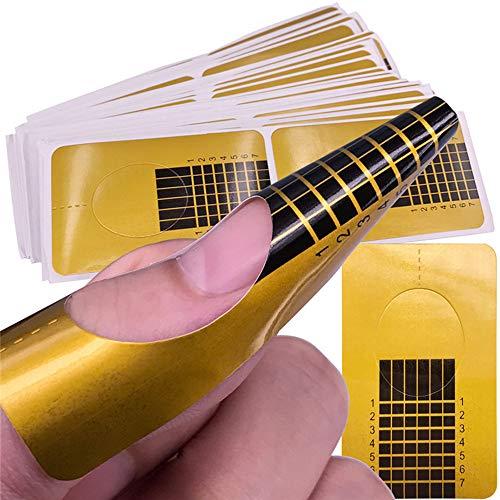 MMLC 20 Stück Professional Nail Art Tips Extension Forms Guide Stickers Acrylic UV Gel für die künstliche Fingernagel-Modellage (A)