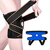 Knee Brace for Women and Men, Knee Support with Side Stabilizers & Patella Gel, Adjustable & Breathable, Available for Meniscus Tear, Arthritis, Joint Pain Relief, Sport Injury Rehabilitation, Running