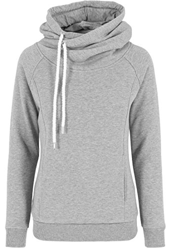 Urban Classics Damen Pullover Pullover Raglan High Neck Hoody grau (Grau) Large