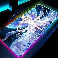 ゲーム用マウスパッドデスクパッドカワイイラージセーラームーンマウスパッドクリスタルドレスアニメRgbゲームマット用PC大型コンピューターキーボードオフィスロングテーブルマットL70x30cm