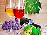 Peinture à l'huile numérique bricolage Peinture à l'huile de bricolage Kit de toile de vin de vin fruité pour adultes Enfants avancés Seniors Junior 16 * 20 pouces Peinture bricolage
