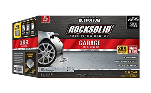 Rust-Oleum 293513 RockSolid Polycuramine 2.5 Car Garage Floor Coating Kit, Gray