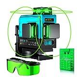 Laser Level,VYTOOV 3x360 Cross 3D 12 Line Laser-Green Beam Self-Leveling Laser 40m/132ft Two