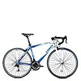 Trinx TEMPO1.0 700C Road Bike Shimano 21 Speed Racing Bicycle (Blue/White, 56cm)