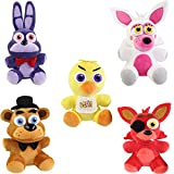 Funko Collectible Plush - Five Nights at Freddy's - SET OF 5 (Mangle, Chica, Bonnie, Foxy & Freedy)(