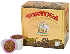 Compatible with Keurig K Cup brewers including 2.0 Tortuga Single Serve Rum Creme Flavor, 18 Cups Made from the best high mountain Arabica beans and lovingly steeped in our world-famous Tortuga rums