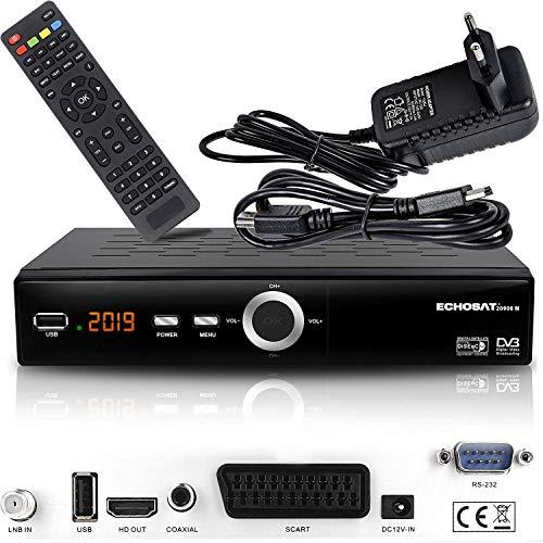 Echosat 20900 M - Ricevitore satellitare digitale (HDTV, DVB-S/S2, HDMI, SCART, 2X USB 2.0, Full HD 1080p) [Preprogrammato per Astra Hotbird Türksat] single Echosat 20900 M Echosat 20900