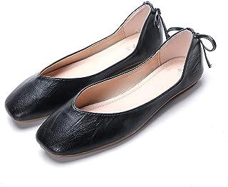 [ジョイジョイ] パンプス ぺたんこ 婦人靴 レディースシューズ カジュアル オフィス ビジネス 大きいサイズ 小さい 蝶結び シンプル フラットヒール デイリー 痛くない 歩きやすい 疲れない