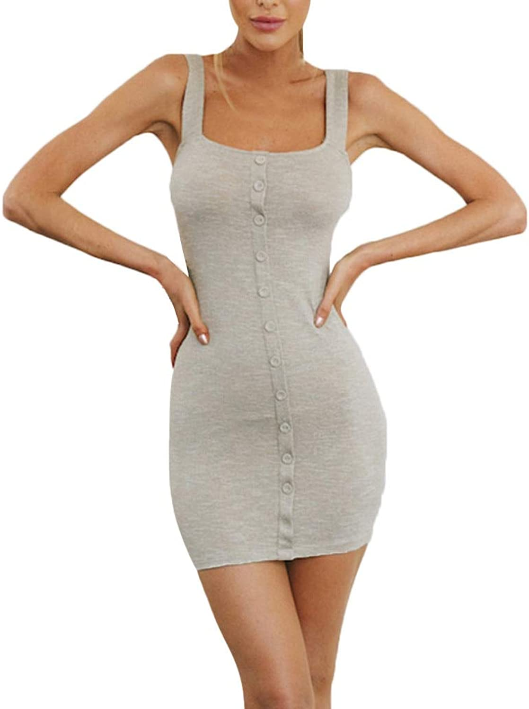 YKDDKK Single Breasted Summer Dress Spaghetti Straps Slash Neck Backless Sundress Dresses Elegant Elegant Ladies Skirt Adds Temperament To You