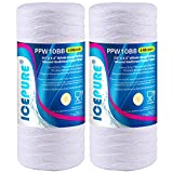 """ICEPURE 5 Micron 10""""4.5'' Whole House Sediment String Wound Water Filter Replacement filter for 84637, WPX5BB97P, PC10, 355214-45, 355215-45, WP10BB97P, WP5BB97P, 2PACK"""