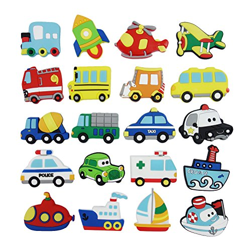 Kühlschrankmagnete Magnete Kinder 20 Stücke, Tectri Lustige Magnete Stark Fahrzeug Magnet Spiele für Kinder, Whiteboard, Kühlschrank, Magnettafel, Küche, Büro und Klassenzimmer