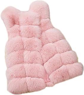 Gilet da donna in pelliccia sintetica slim lungo gilet gilet gilet senza maniche scrolla sciolto caldo inverno causale tre...