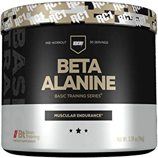 Redcon1 - Beta Alanine - Basic Training - 30 Servings, Promotes Endurance, Supports Weight Loss, Supports Fatty Acid Mobilization