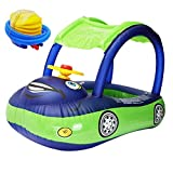 Sushelp Baby Pool Float Swimming Float with Canopy Inflatable Floatie Swim Ring for Toddler Infant Boys Girls