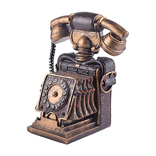 QWEA Hucha Duradera, Adornos de teléfono Retro, artesanía pública de Resina, teléfono, Hucha Puede almacenar Monedas, Billetes de Banco, Accesorios, Adecuada para la decoración de Escritorio
