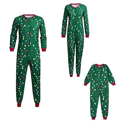 Familie Kerstmis Bijpassende Pyjama Set Hooded Romper Katoen Lichten Slaapmode Vrolijke Kerst Jumpsuit Xmas Lange Mouw Lantaarn Gedrukte Nachtjassen Loungewear Pjs pyjama Kleding