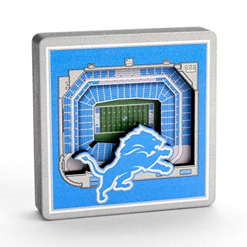 YouTheFan NFL Detroit Lions - Ford Field 3D StadiumView Magnet3D StadiumView Magnet, Team Colors, Small (8493342)