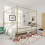 Best King Size Beds - Novogratz 4195249N Marion Canopy Bed, King, Gold Review
