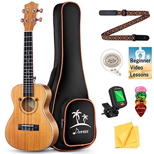 Donner Ukulele Concerto 23 Pollici Bambino Principianti Adulto Ukulele Kit Top Mogano Massello Ukulele Hawaiano Ukelele Online Lezione