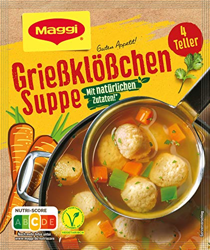 Maggi Guten Appetit, Grießklößchen Suppe, ergibt 4 Teller, 1er Pack (1 x 50g)