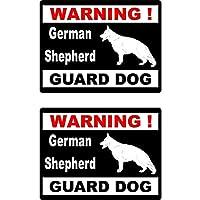 Yang1995 15 * 11.5センチメートル漫画ジャーマンシェパード番犬警告再帰反射ステッカー車の窓のステッカー (Color : 1)