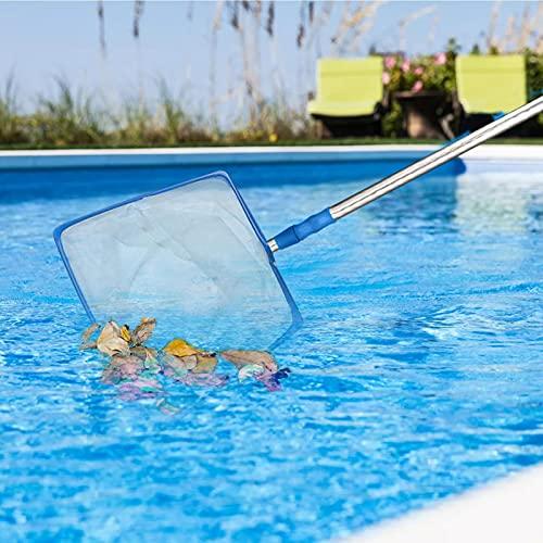 Zwembad Skimmer Schepnet met Telescopische Paal, Zwembad Schepnet Reiniging, Vijver Leaf Mesh Skimmer voor Spa…
