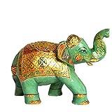 Gemhub Elegante Elefante, Estatua de Jade Verde, Aproximadamente 7591.00 estatuilla de la Escultura de la Obra Maestra de la Escultura de la Pieza de Arte para la casa