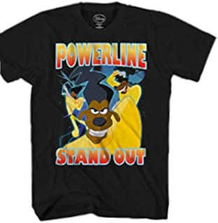 Disney Goofy Movie Powerline Stand Out Tour Mens T-Shirt