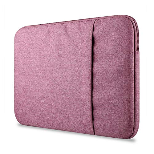 WOIA para Macbook Air pro11 / 12/13/15 Pulgadas Mac Case Fundas para computadora portátil Bolsillo Compatible, Rose Red