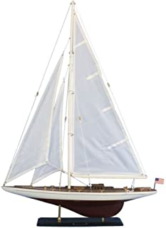 Hampton Nautical Wooden Ranger Model Sailing Yacht, 35