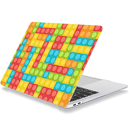 Case for MacBook Air 13 inch Older Version 2010-2017 Release A1369 A1466 Plastic Hard Shell Cover Compatible with MacBook Air 13' Without Touch ID Toy Brick Tetris