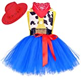 Tutu Dreams Baby Girl Cowgirl Cowboy Costume 100th Day of School Birthday Tutu Outfit Dress Spring Party(Cowgirl, 1-2T)