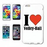 Reifen-Markt Handyhülle kompatibel mit Samsung Galaxy S5 Mini I Love Volley Ball Hardcase Schutzhülle Handy Cover Smart Cover
