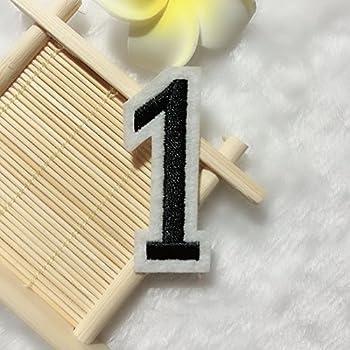 Parches bordados – 0 – 9 Digital Jersey Número etiqueta de costura ...