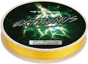 KastKing Extremus Braided Fishing Line,Yellow,300Yds,6LB