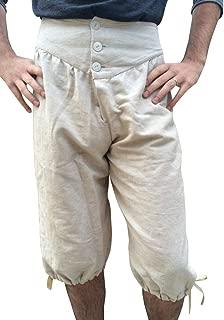 Hestenve Men's Vintage Medieval Pants Pirate Cosplay Costumes Halloween Viking Renaissance Trousers