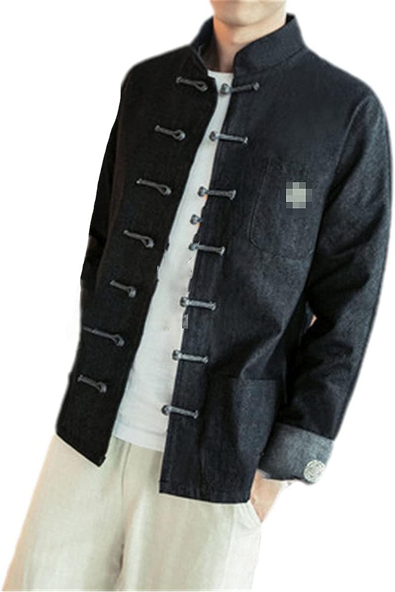 Chinese Denim Jacket Men's Jeans Jacket Men's Black Jacket