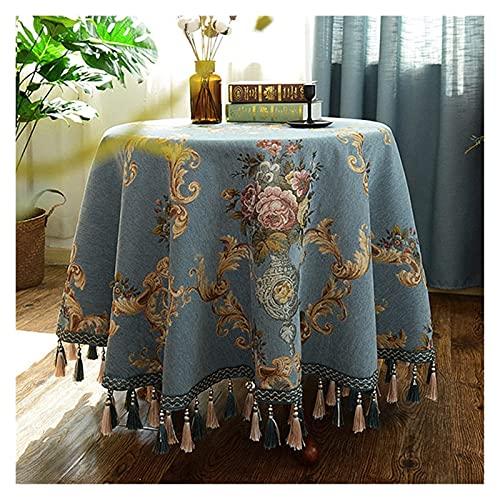 Wohnzimmerzubehör Tischdecke Tischdecke Runde Hochzeit Hotel Tischdecke Solide Tischdecken Wohnkultur Beige Kaffee Blau (Farbe : Beige Spezifikation : 160 * 160cm)