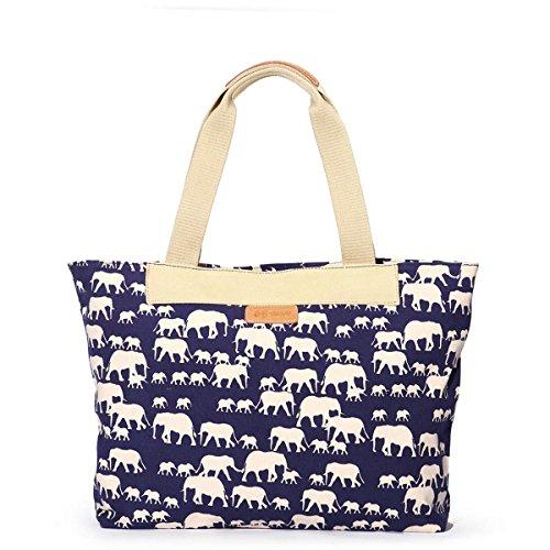 Eshow Borse a tracolla da donna di tela a mano Multifunzione per viaggio sacchetto borsa shopper bag shopping trekking
