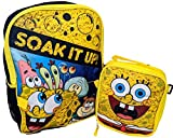 Spongebob Soak It Up 16 Inch Backpack with Insulated Lunch Box