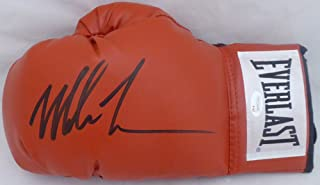 Mike Tyson Autographed Red Everlast Boxing Glove LH Signed In Black JSA Stock #140641