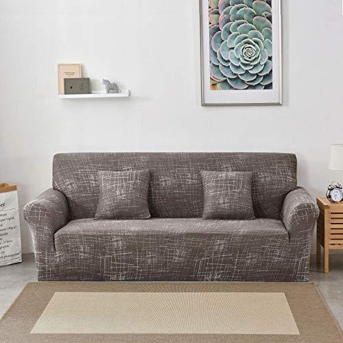 PPOS Geometrische Bedruckte Sofabezüge Für Wohnzimmer Elastischer Stretch Schonbezug Eckige Sofabezüge A16 3 Sitze 190-230cm-1pc