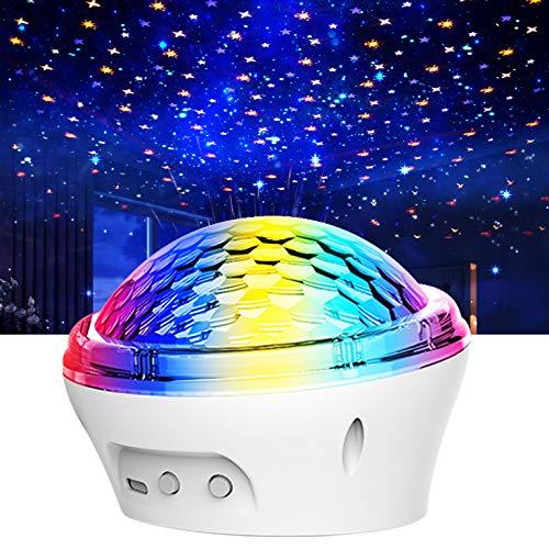 Mini LED Sternenprojektor Lampe Sternenhimmel Projektionslampe mit USB Kabel Party Geburtstag Dekor für Geburtstage, Halloween,Dekoration (Weiß)