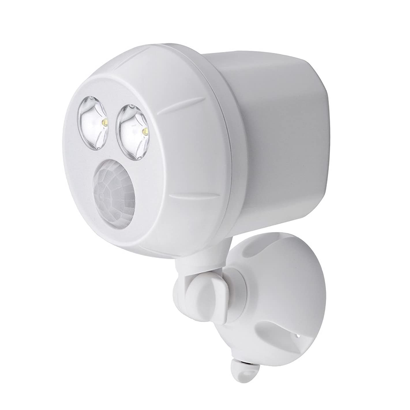 Mr. Beams MB380 Weatherproof Wireless Battery Powered LED Ultra Bright 300 Lumen Spotlight with Motion Sensor, White, 1-Pack