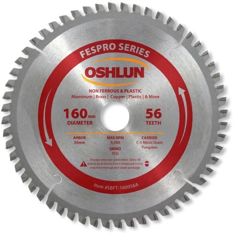 Oshlun SBFT-160056A 160mm x 56T x 20mm Arbor Saw Blade - FesPro - Non Ferrous