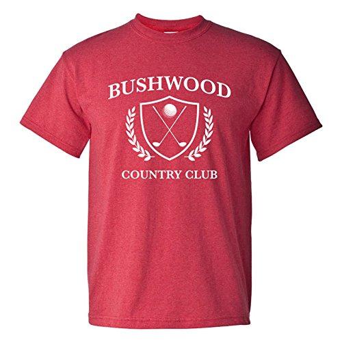 UGP Campus Apparel Bushwood Country Club - Funny Golf Golfing T Shirt - Medium - Heather Red