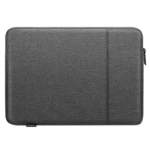 MoKo Sleeve Tasche Kompatibel mit MacBook Air Retina 133 2018 MacBook Air 133 20192020 iPad Pro 129 20182020 Polyesterfaser Laptophulle mit Reisverschluss und 2 Tasche Tablet Hulle Dunkelgrau