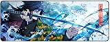 for Demon Slayer Kimetsu No Yaiba Anime Large Extended Gaming Mouse Pad Mat, Stitched Edges, Ultra Thick 3 mm, Wide & Long Mousepad 31.5' x 11.8' x 0.12' (06)